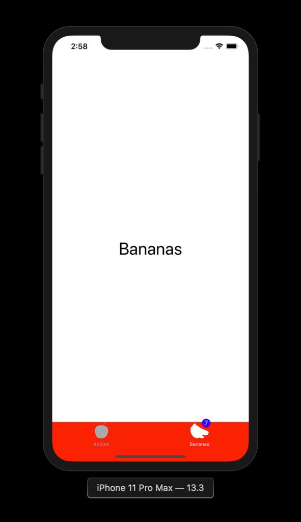 Alternative badge style for tab bar item